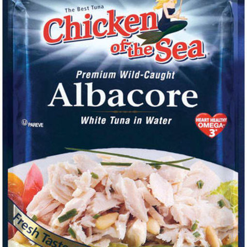 Picture of TUNA CHUNK WHITE ALBACORE IN WATER POUCH
